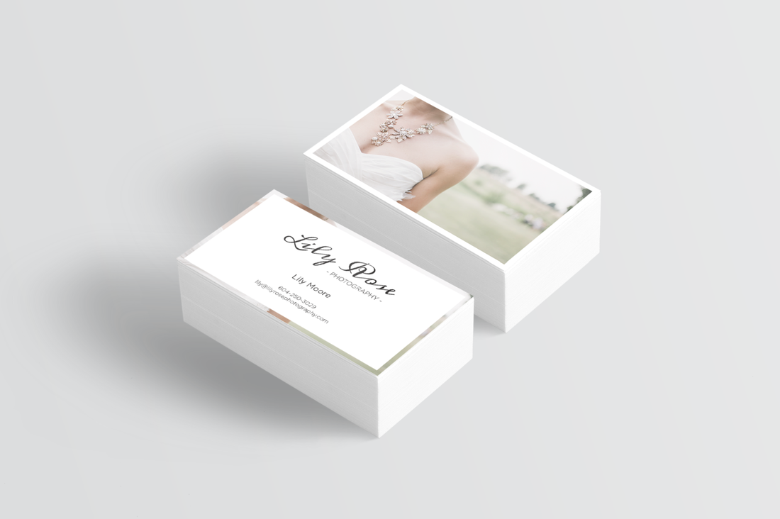 Branded business card with logo